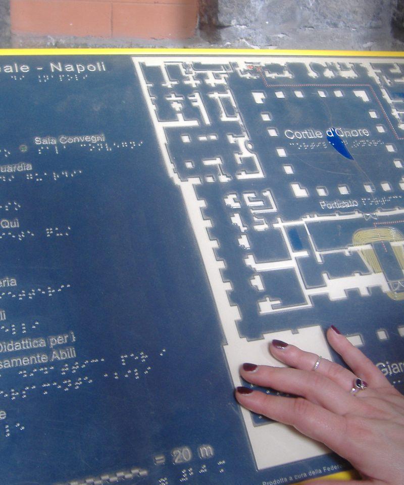 mappa tattile palazzo reale napoli